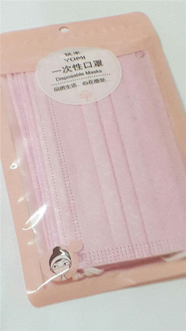 Fashion 3 Ply Disposable Face Mask (Pink) (8 PCS)