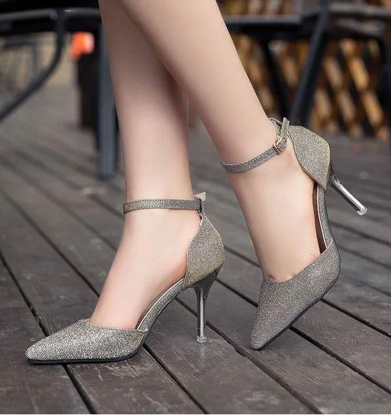 Fashion Blink High Heel Shoes (Gold)