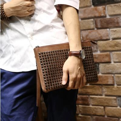 Fashion business casual rivet envelope bag