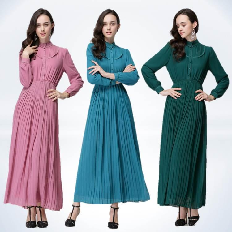 {Fashion Clickers} Pleated Jubah Dress 0417