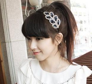 Fashion Crystal Leaf Hair Band