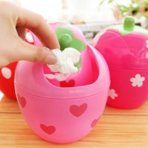 Fashion~Cute Strawberry Desktop Mini Rubbish Bin
