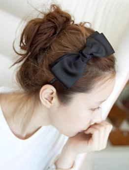 Fashion Double Layer Ribbon Hair Band