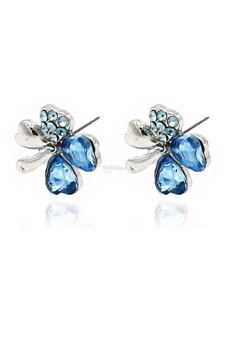 Fashion Jewelry Accessories: Special Occasion Earrings-Blue