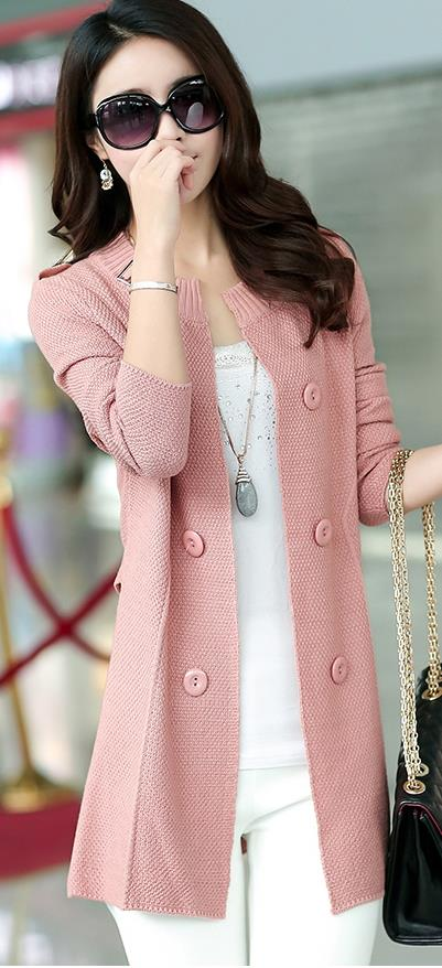 Fashion Knit Cardigan Pink