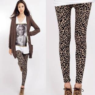 Fashion Leopard Show-slim Long Pants