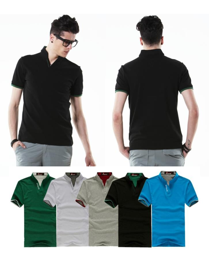 Fashion Men Band Collar POLO T 15628