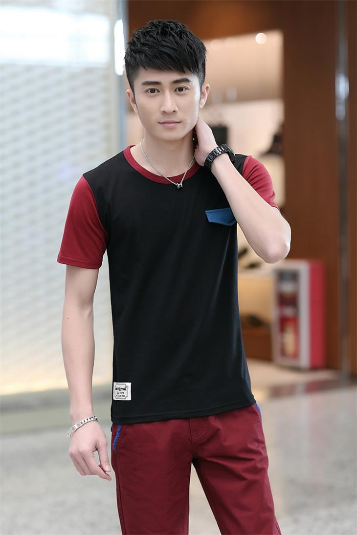 Fashion Mix Colour Men T-shirt (Black)
