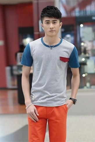 Fashion Mix Colour Men T-shirt (Grey)