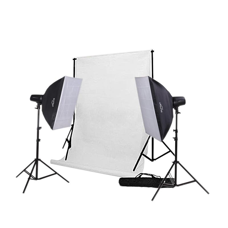 Fashion Photo Studio Starter Kit 250w - Studio Strobe Light Package
