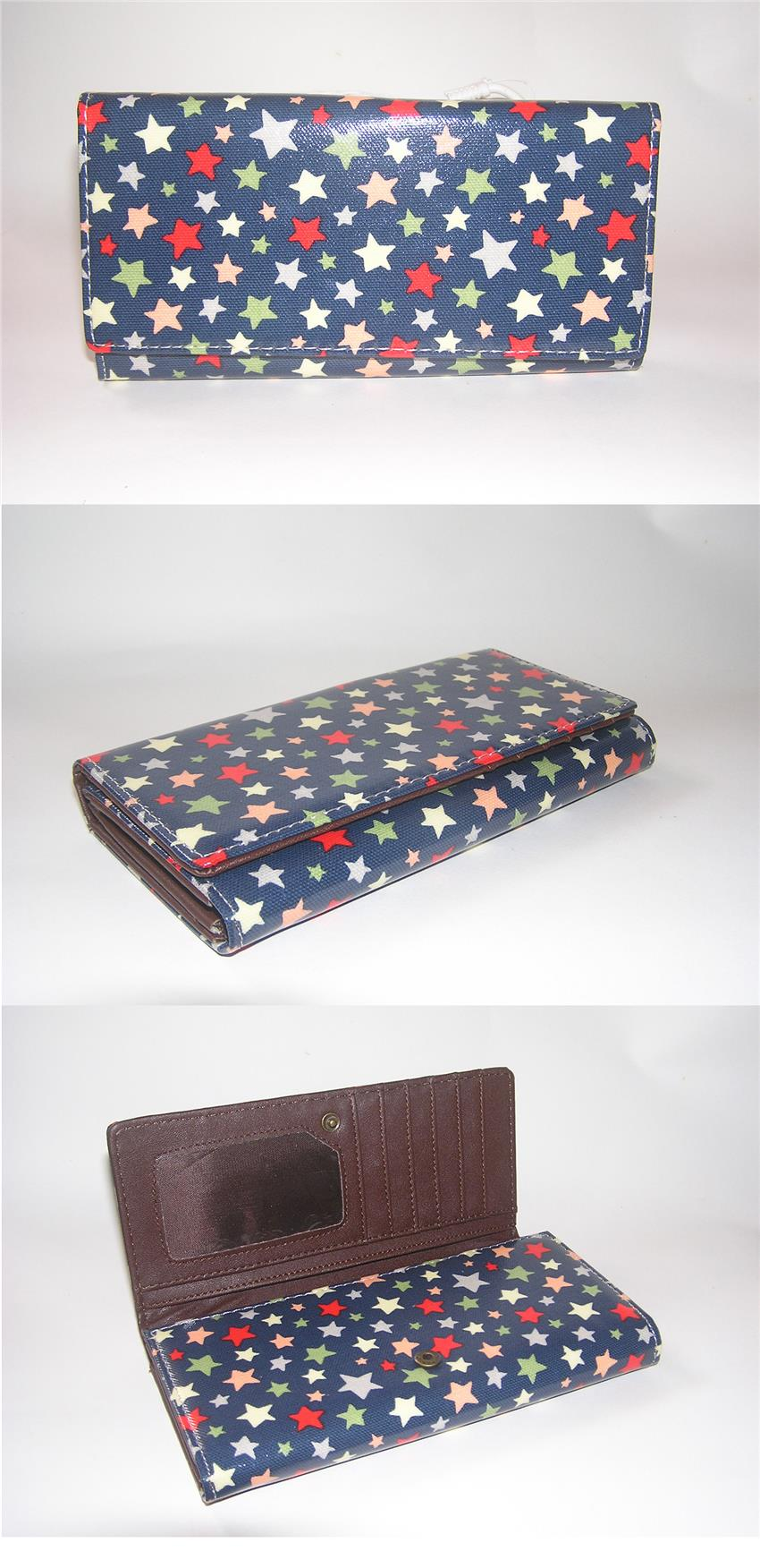 Fashion Purse Long Wallet Star Printing Clutch Handbag - S094