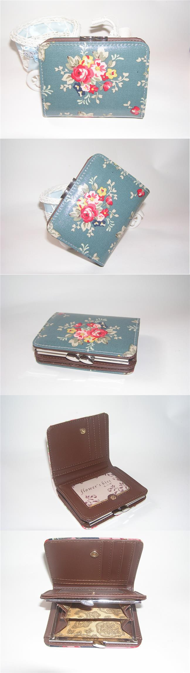 Fashion Short Wallet Classic Flower Printing Small Handbag - S071