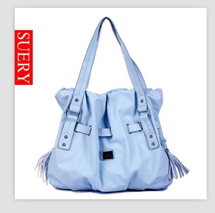 Fashion Tassel Embellished Bag Blue