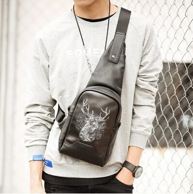 Fashion trends European and American lost deer small chest bag
