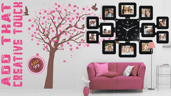 Fashion Wall Clock with 12 pcs Photo Frame