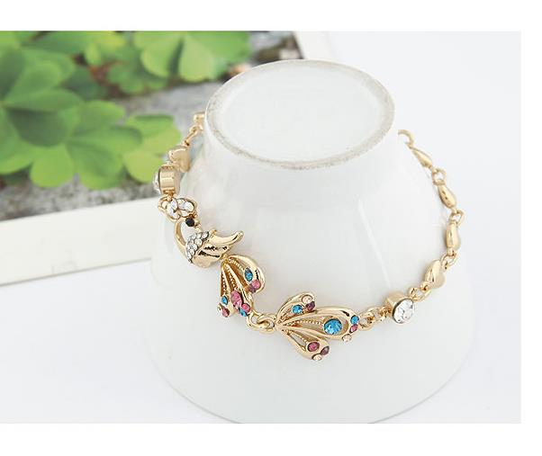 Fashionable Flash Diamond Bracelet - Peacock