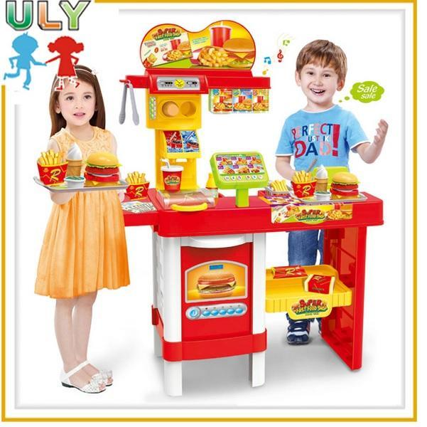 Fast Food Shop 48 Pcs Remote Control POS With LED Billboard Play Set