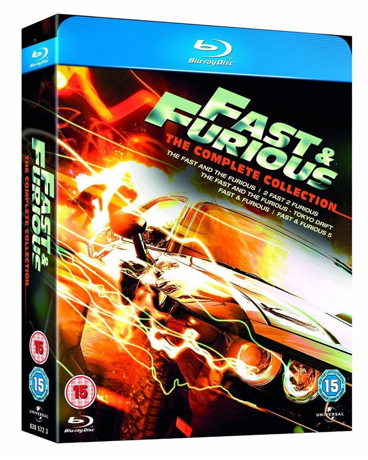 Fast & Furious: The Complete Collection 1-5 BoxSet - PS3 Blu Ray Movie