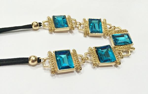 Faux Blue Gemstone Short Necklace (Free Shipping)