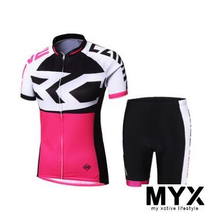 Female Cycling Suit Shirt Jersey Cushion Clothing Bicycle Bike Riding