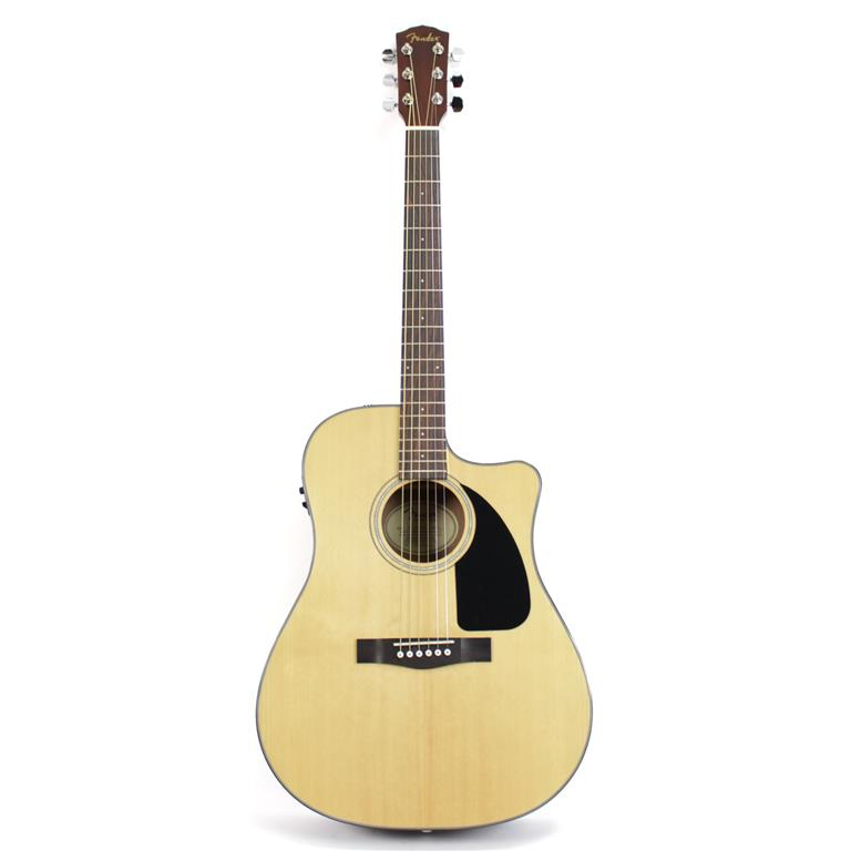Fender CD60CE Cutaway Dreadnought Acoustic-Electric Guitar (Natural)
