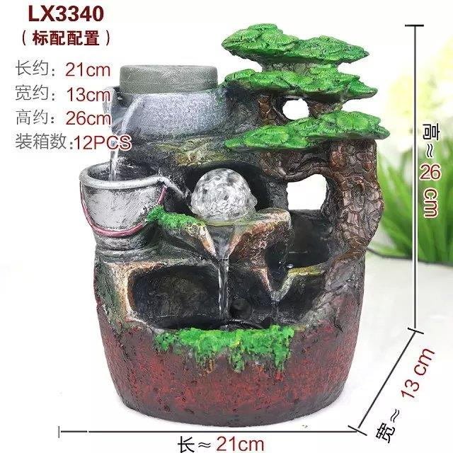 FENG SHUI WATER FOUNTAIN LX3340 TABLE TOP FOUNTAIN DECORATION