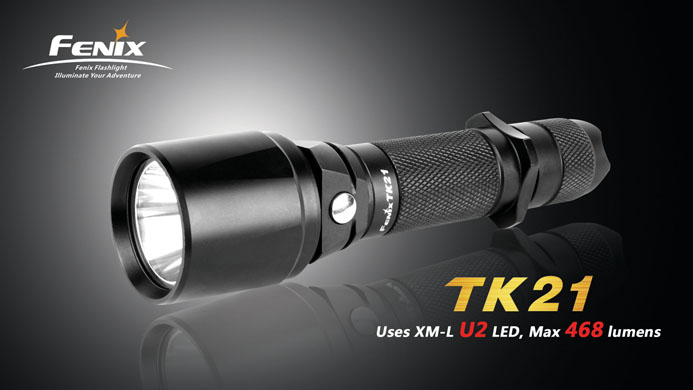FENIX TK21 XM-L U2 SPECIAL EDITION CREE LED FLASHLIGHT ~MAX 468LUMENS