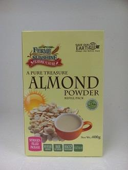 Ferme Sunshine Almond Powder Refill Pack - 400g
