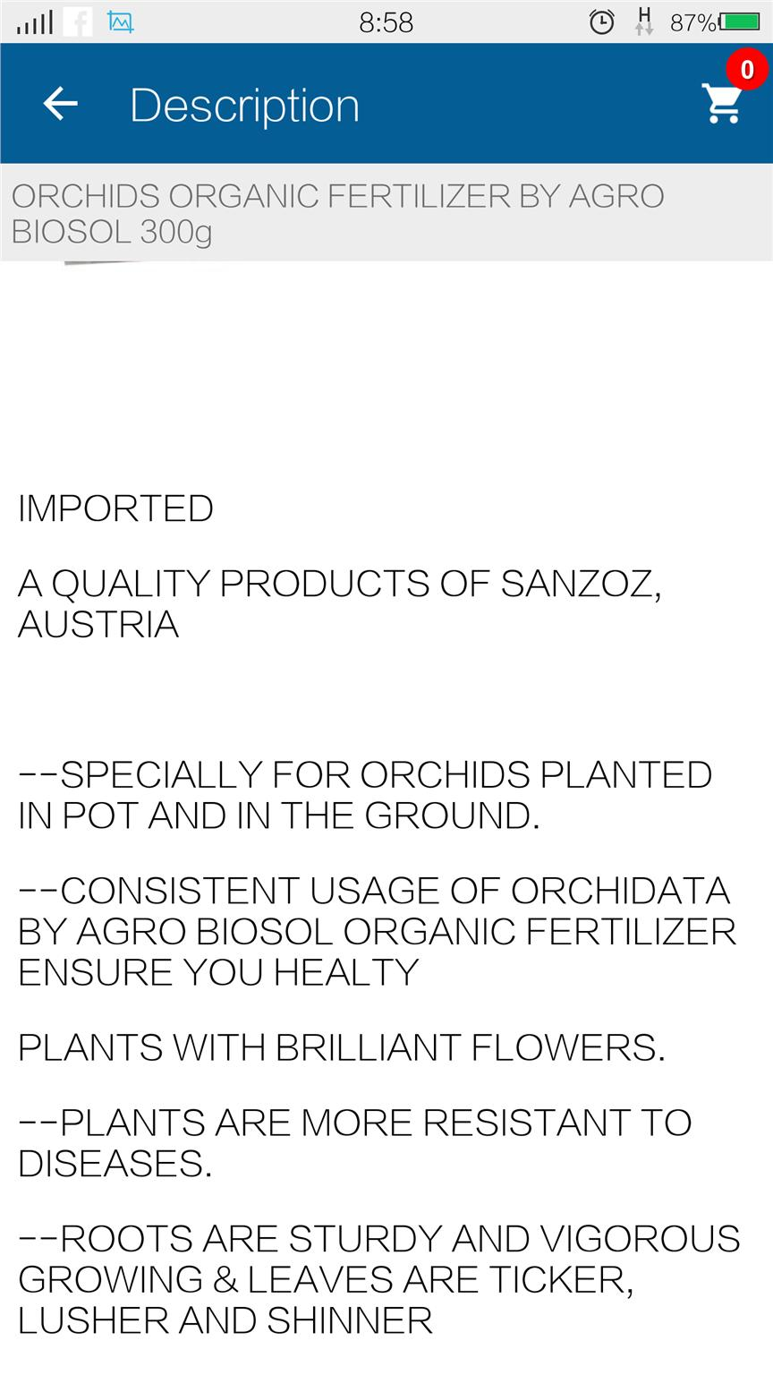Fertilizer Orchid Organic Fertiliser By Agro Biosol 300g Good Quality