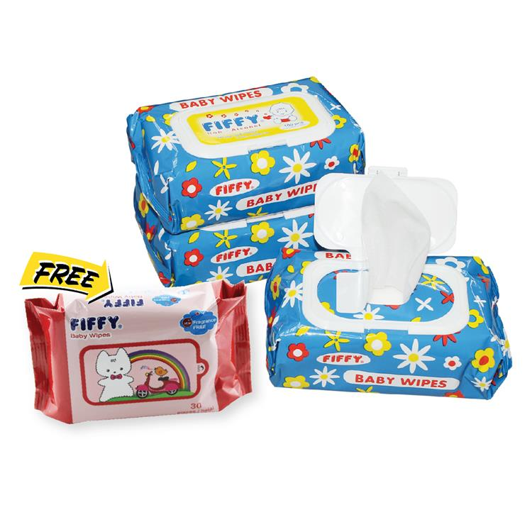 FIFFY BABY WIPES (100'S X 3 + 30'S ) - A98140