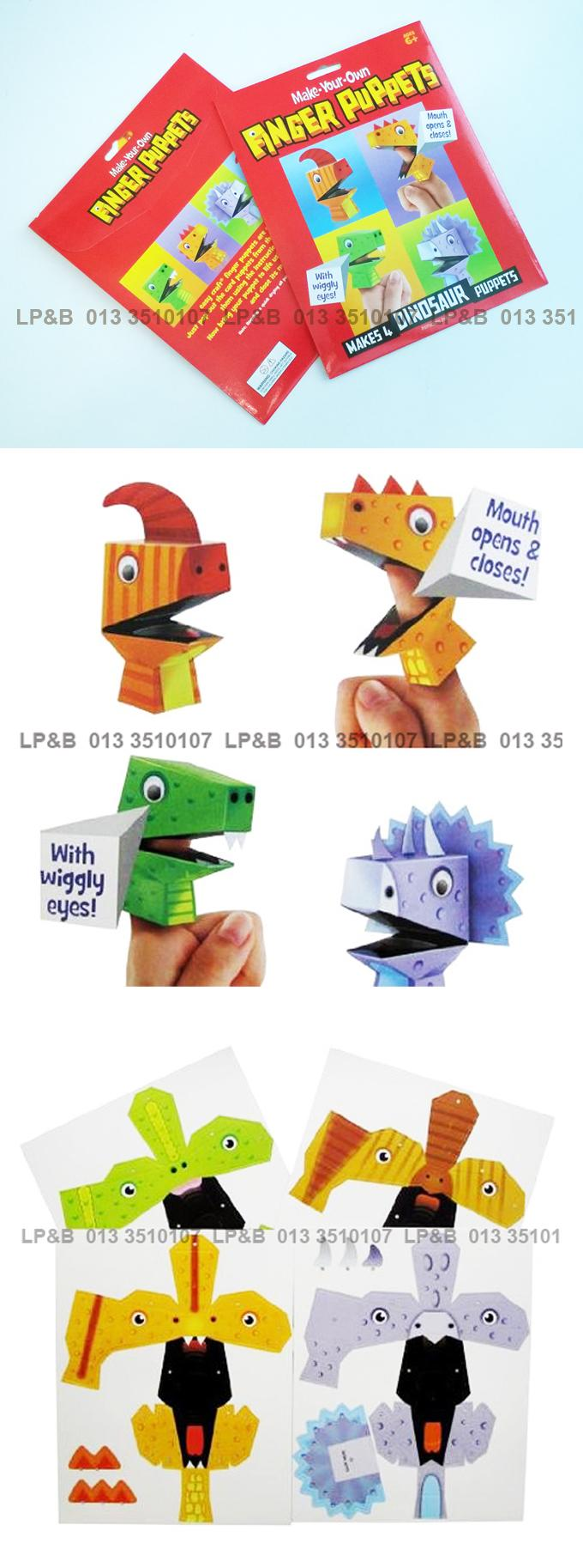 Make Your Own Finger Puppets Pack of 4 - Dinosaurs
