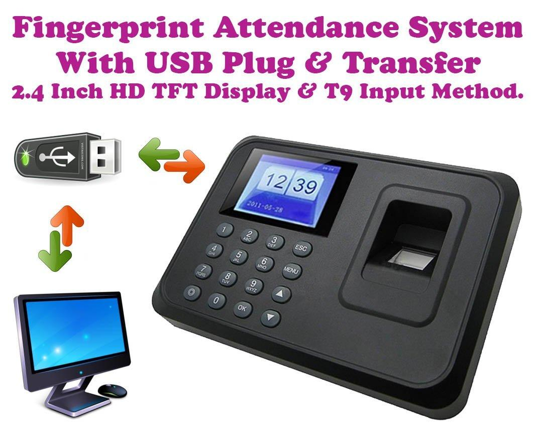 FINGERPRINT THUMBPRINT TIME ATTENDANCE CLOCK RECORDER * OFFER *
