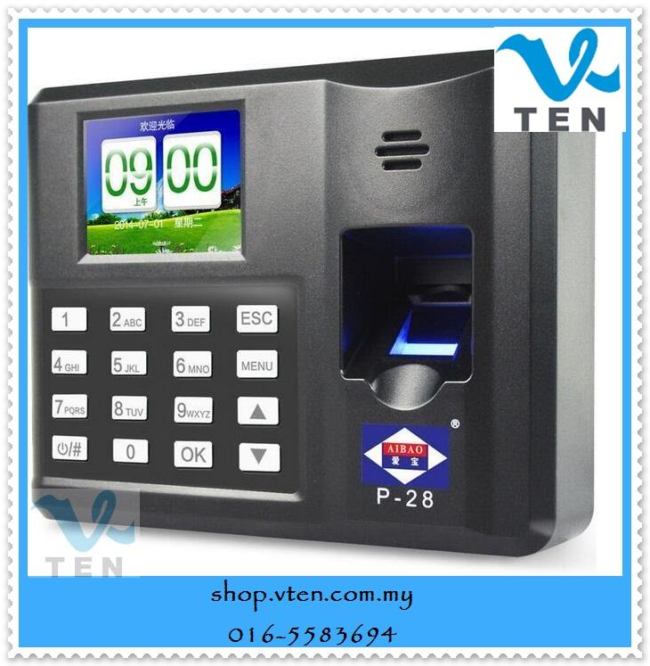 Fingerprint Time Attendance Recorder Machine Directly Connect PC