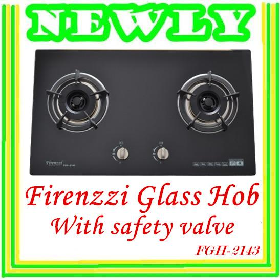 Firenzzi 2 Burners Glass Hob With Safety Valve FGH2143