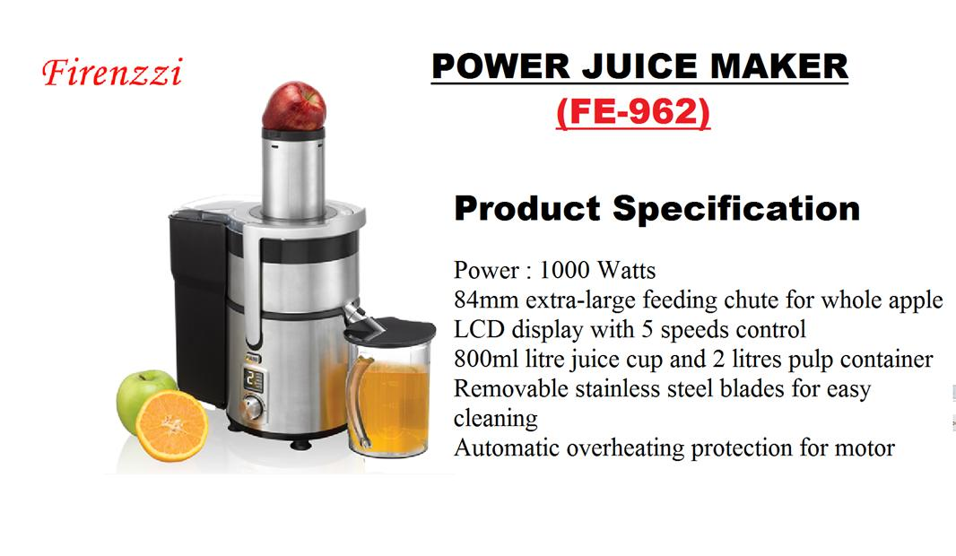 Firenzzi Power Juice Maker (FE-962)