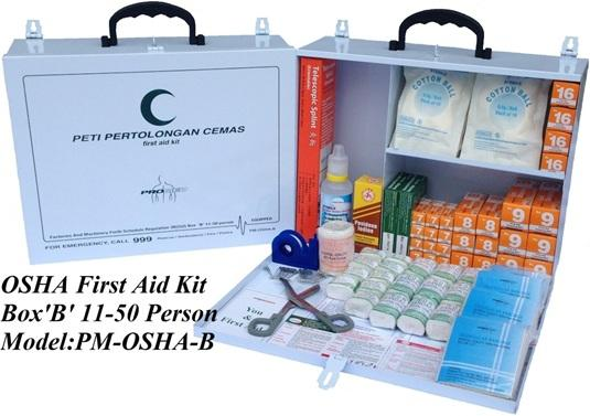 Osha first aid kit 10 person