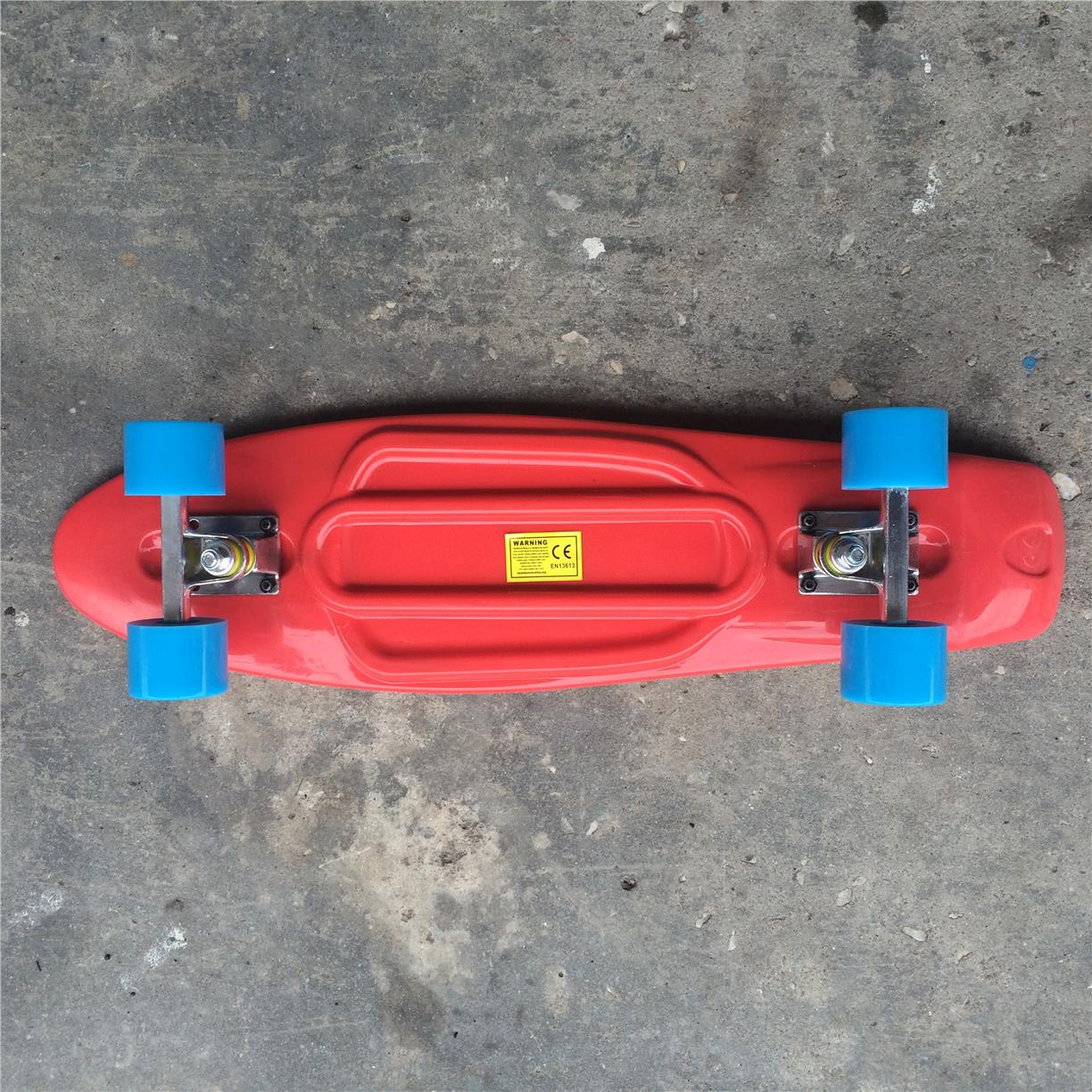 "Fish 27"" Penny Cruiser Skateboard (Red/Blue)"