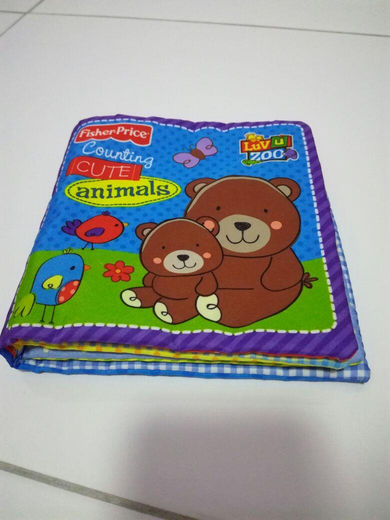 fisher price counting cute animals cloth book goo end 1 14 2017 4 15 00 am. Black Bedroom Furniture Sets. Home Design Ideas