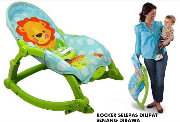 Fisher Price Green & Blue  Baby Rocker