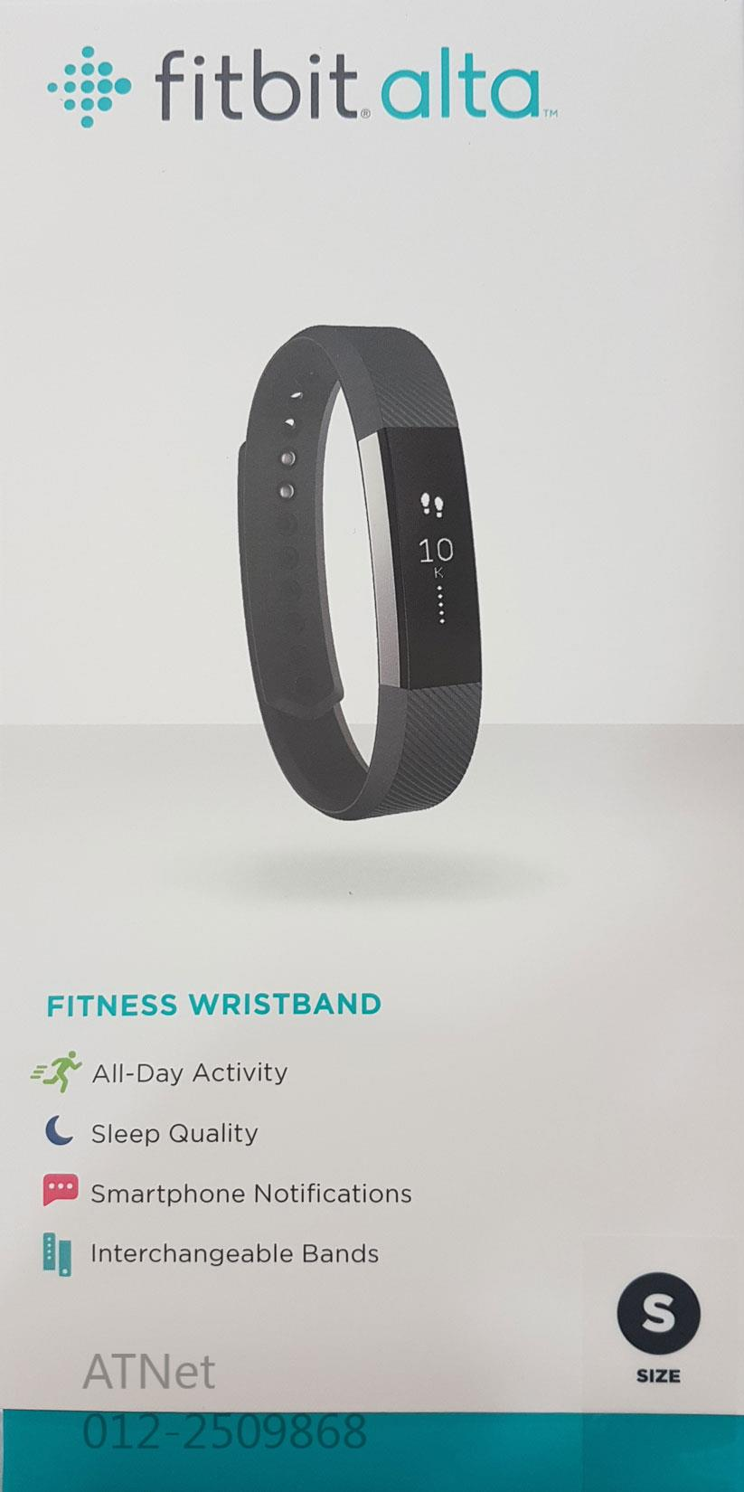 FITBIT ALTA FITNESS WRISTBAND (LARGE) BLACK