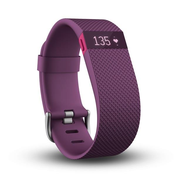 Fitbit Charge HR FB405PMLT Wireless Heart Rate WristBand Large (Plum)