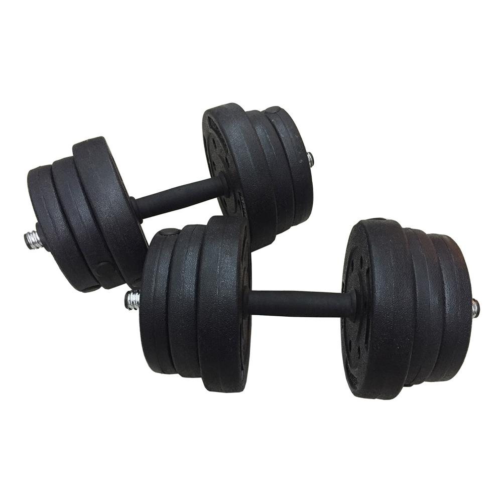 Fitness Gym 20kg Bumper Plate Dumbbell And Barbell Combo Set