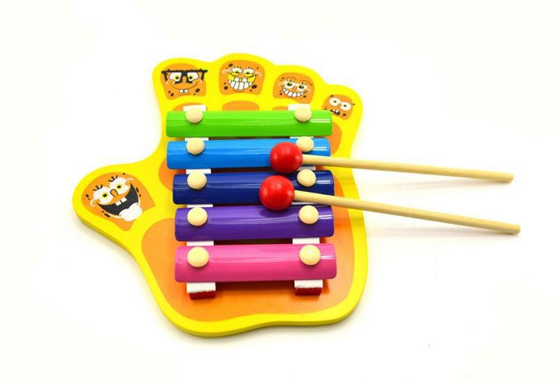 Five Figure Hand Knock Xylophone Music Toys