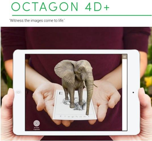 Flash Card Animal 4D+ Octaland 4D+ Cards by Octagon Studio