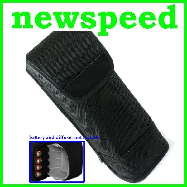 New Flash Light Speedlite Case Pouch Protector Cover with Pocket
