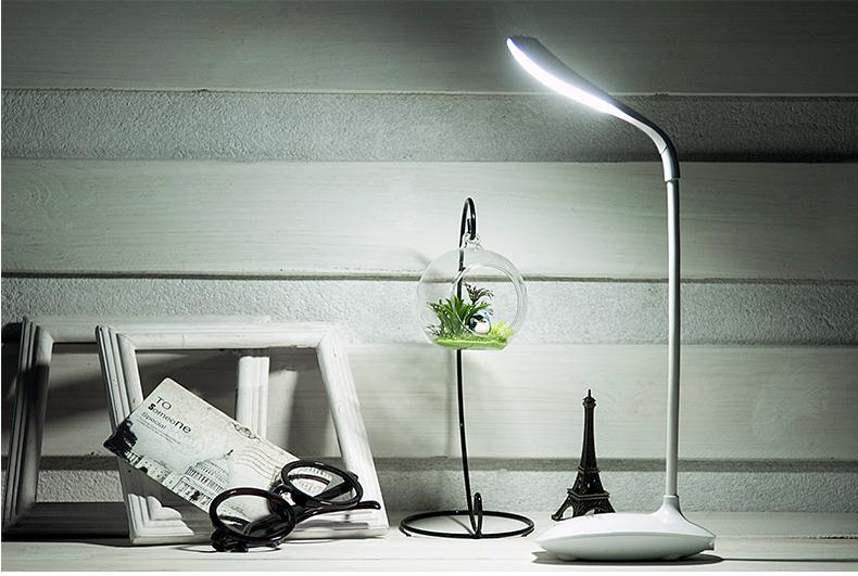 Flexible LED Touch Switch & Dimmer & Rechargeable Desk Table Lamp