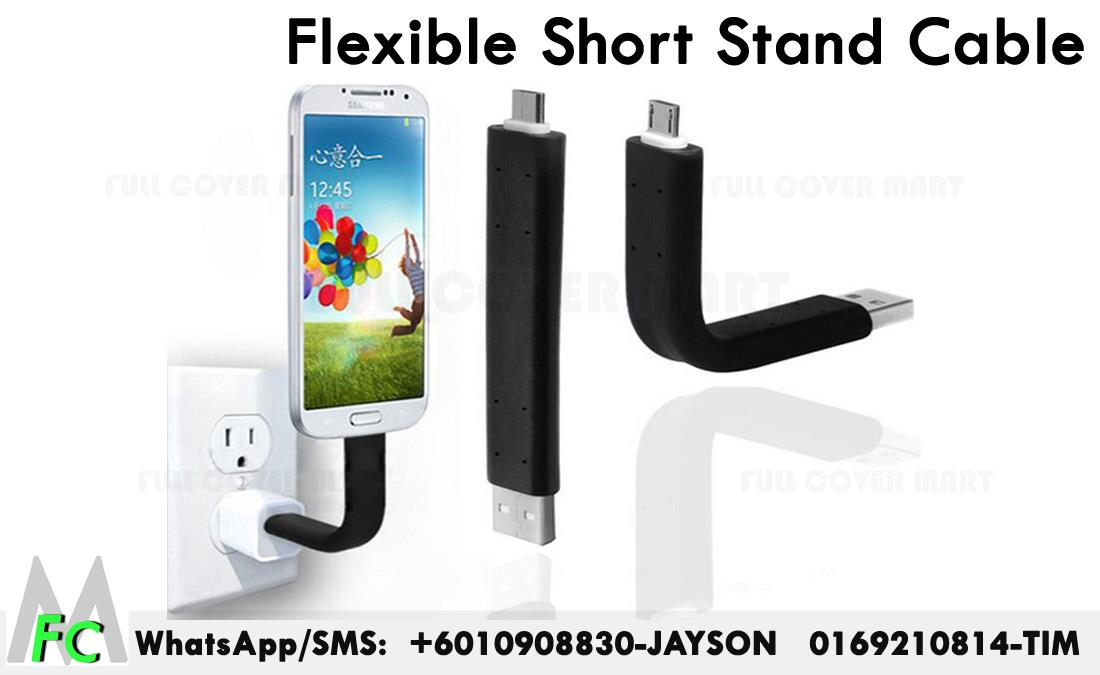 Flexible Short Micro to USB Charger Data Cable Samsung