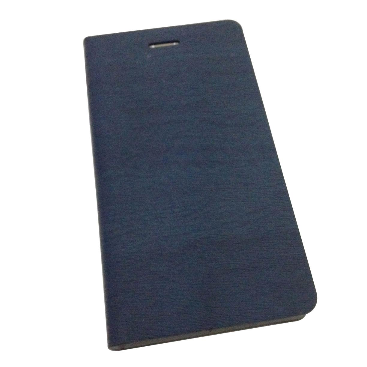 Flip wallet case for Lenovo  A358 ( Dark Blue )