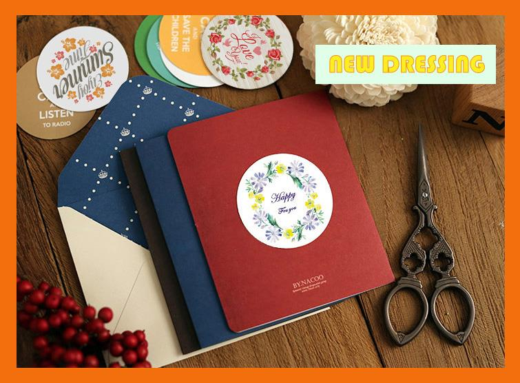 'Floral Series Label/Bakery Sticker' - Zakka/Diary/Photobook DI
