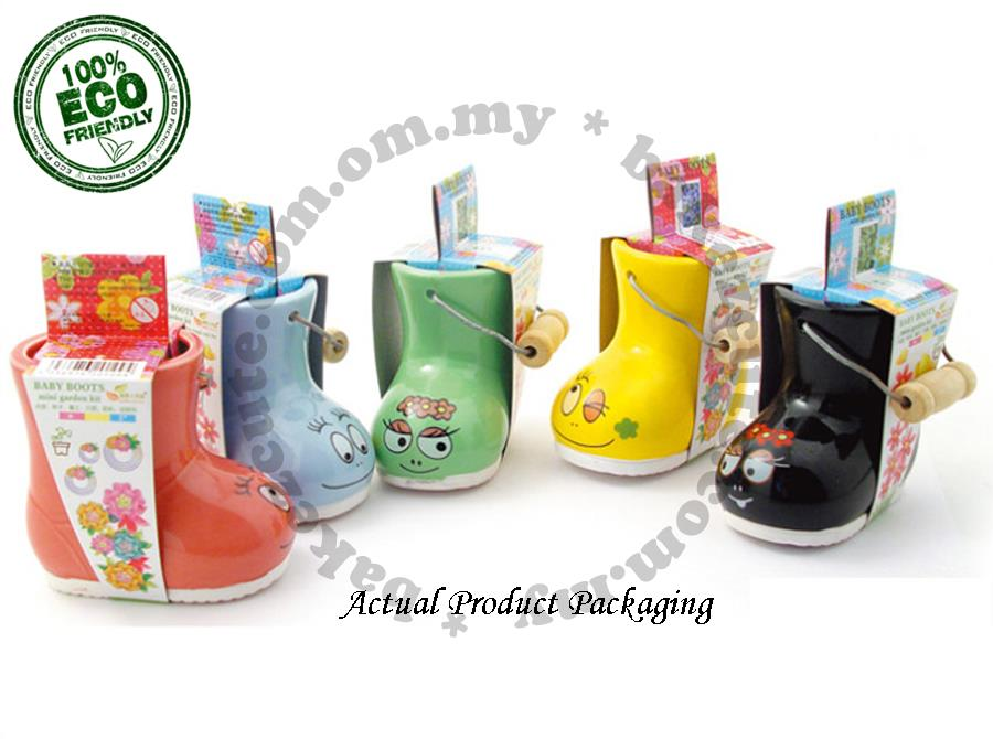 Flower DIY Gift Set - Baby Boots - Home Decor Plant Kit
